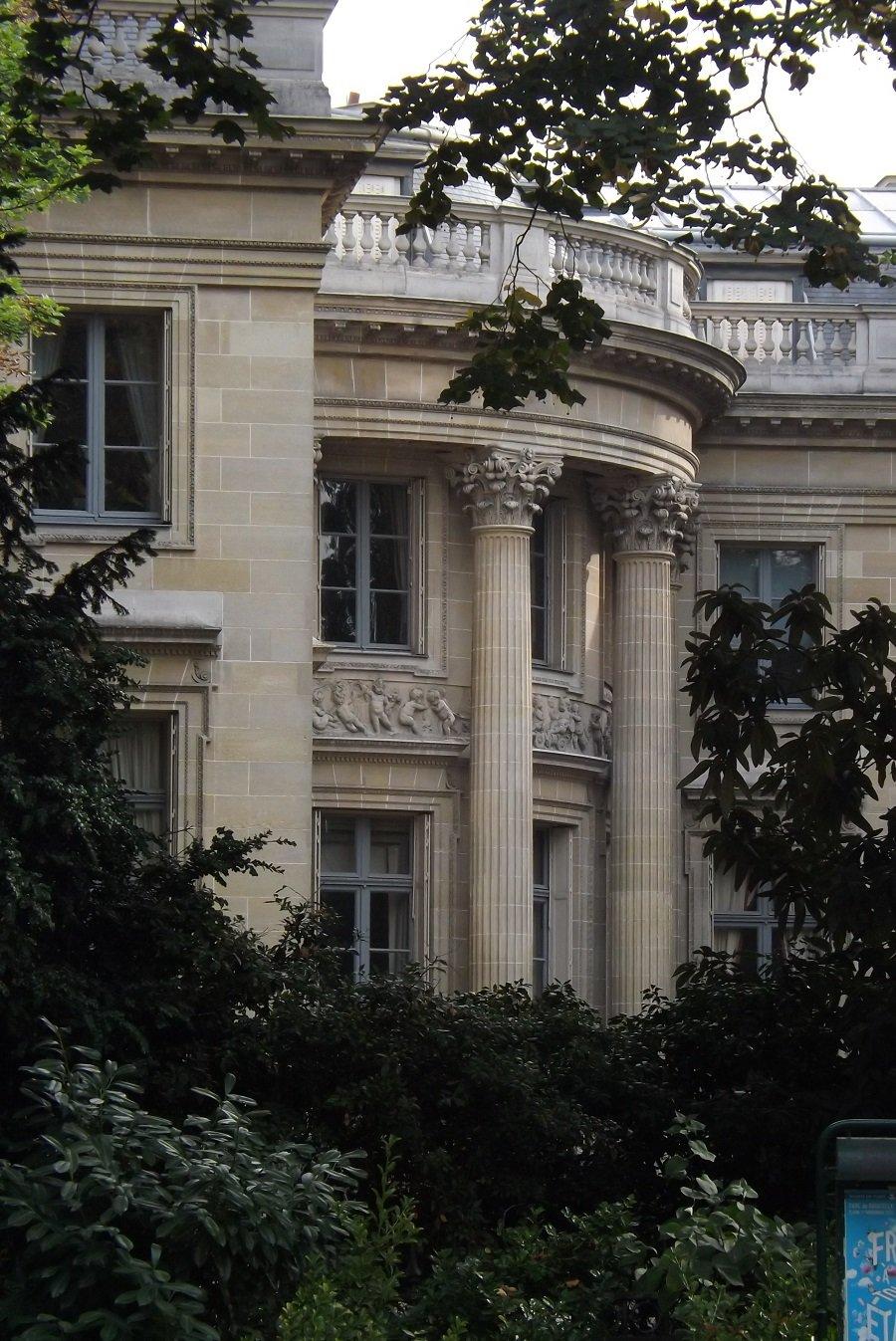 musée nissim de camondo vu depuis parc monceau